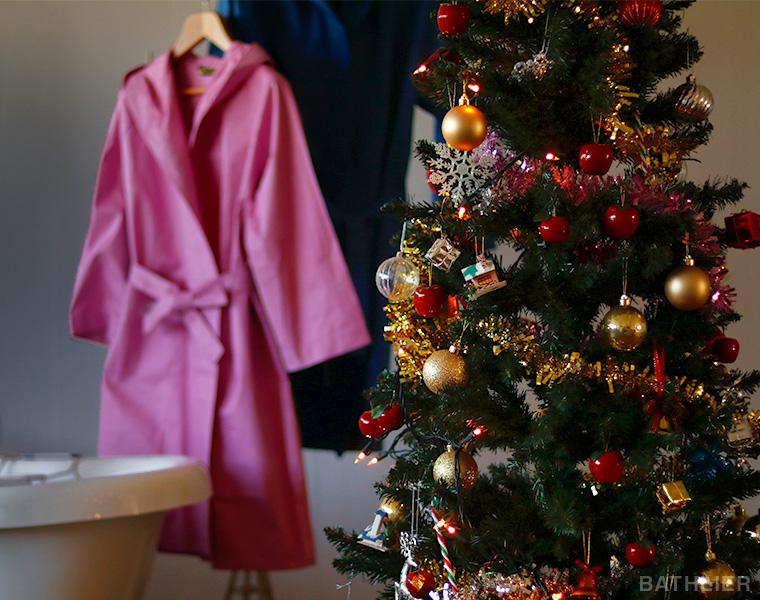 クリスマスにバスローブを贈る