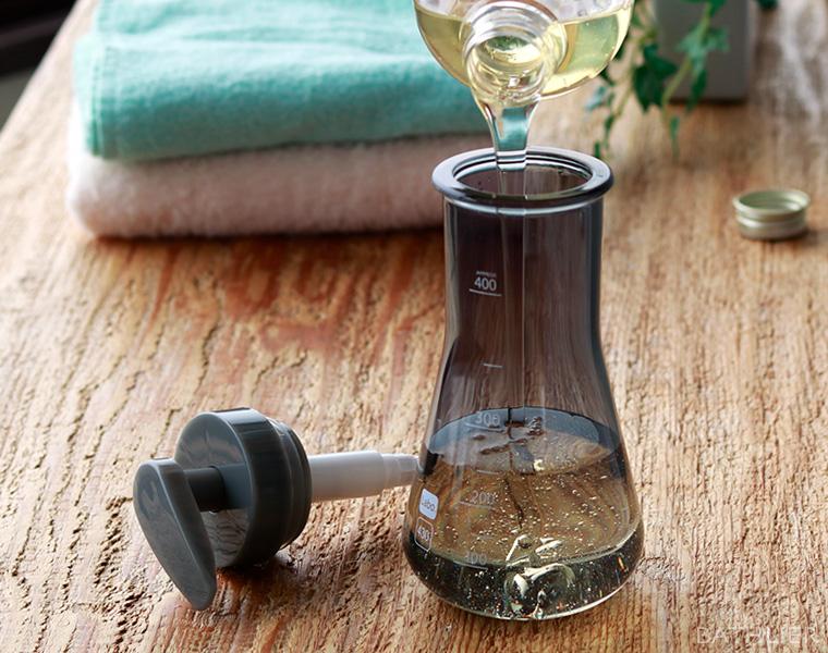 詰め替えボトルのお手入れ方法
